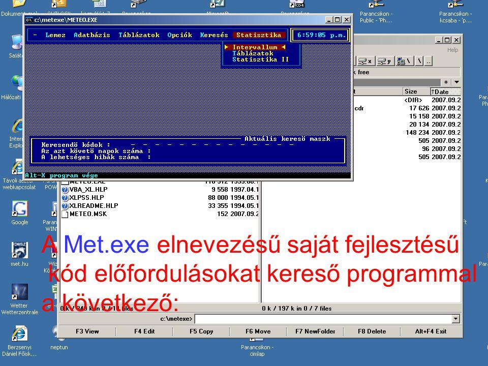 A Met.exe elnevezésű saját fejlesztésű