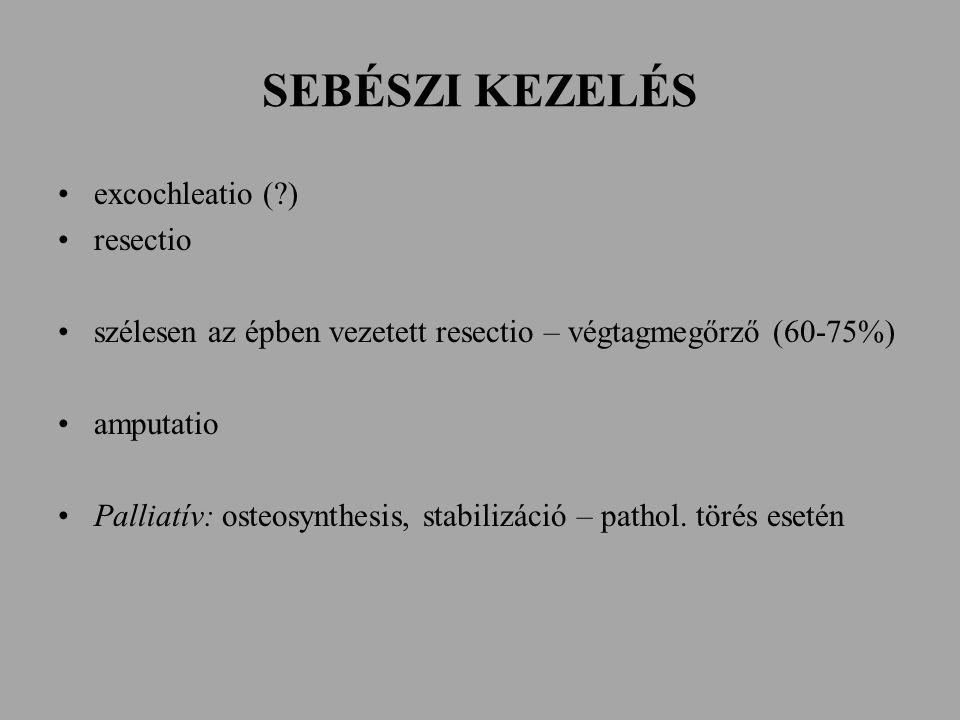 SEBÉSZI KEZELÉS excochleatio ( ) resectio