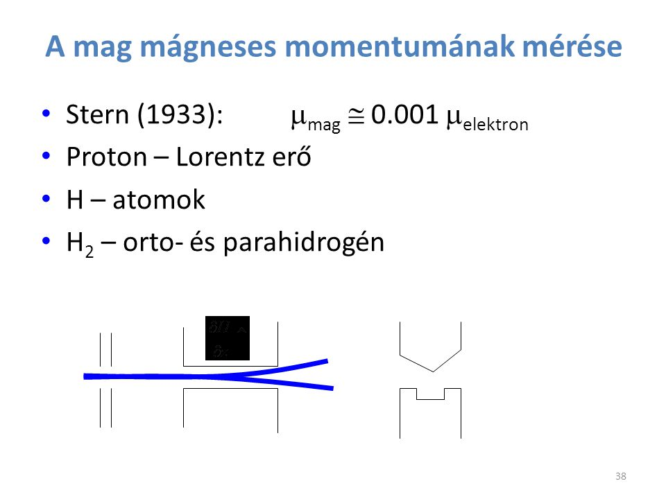 A mag mágneses momentumának mérése