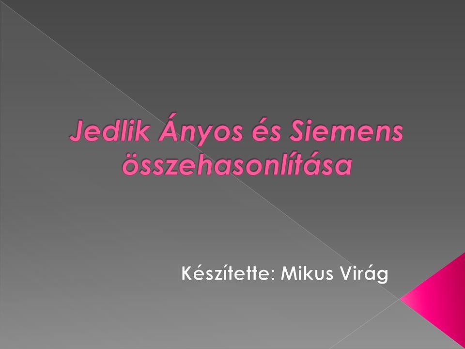 Jedlik Ányos és Siemens összehasonlítása