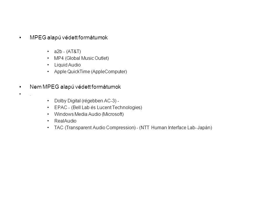 MPEG alapú védett formátumok