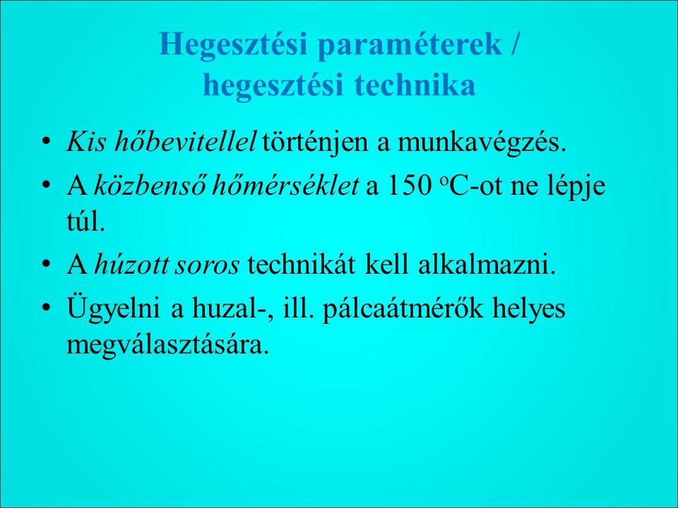 Hegesztési paraméterek / hegesztési technika