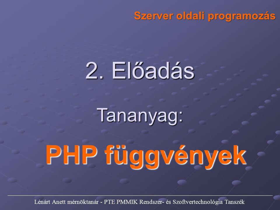 Szerver oldali programozás