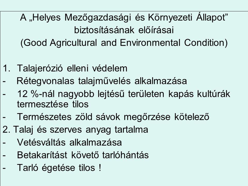 """A """"Helyes Mezőgazdasági és Környezeti Állapot"""