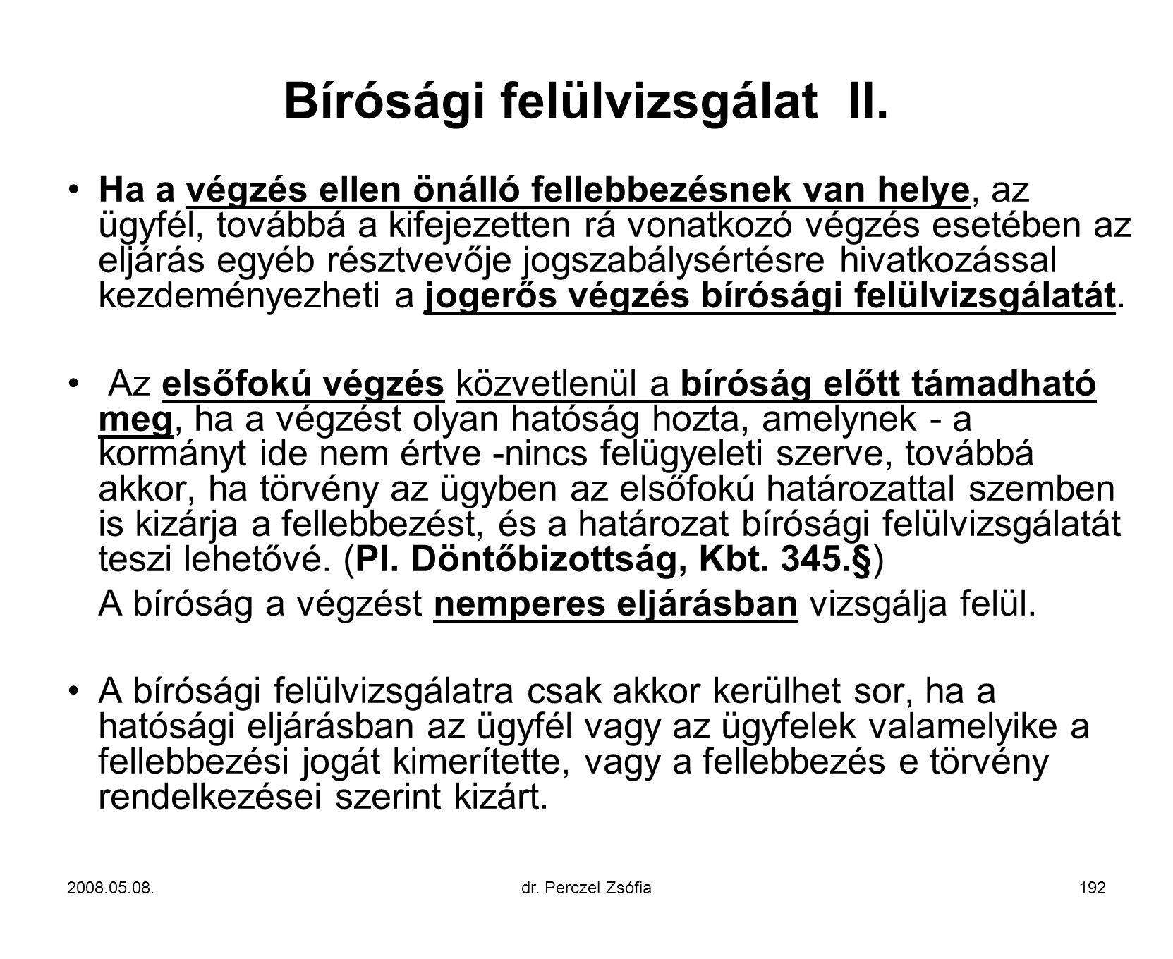 Bírósági felülvizsgálat II.