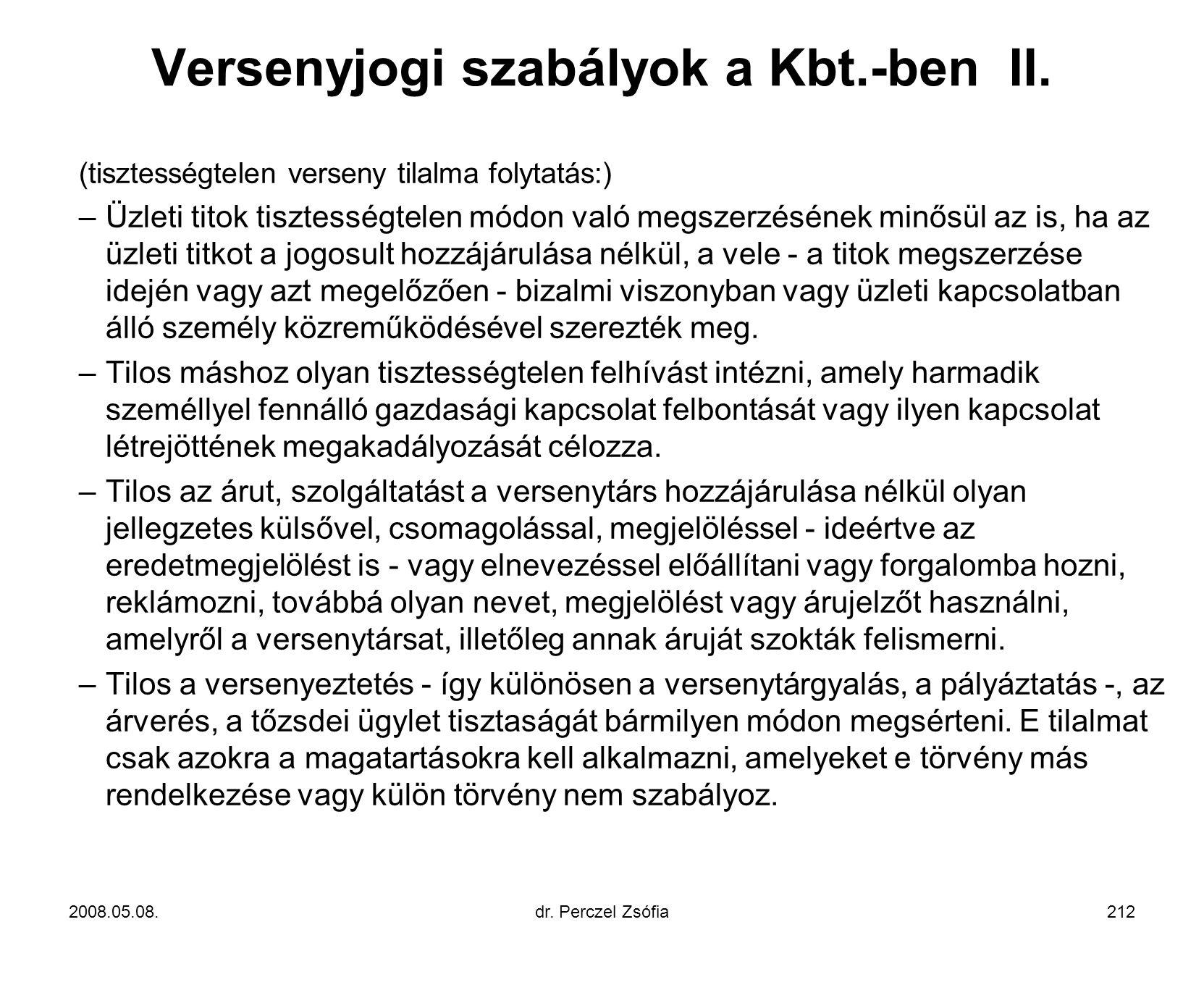 Versenyjogi szabályok a Kbt.-ben II.
