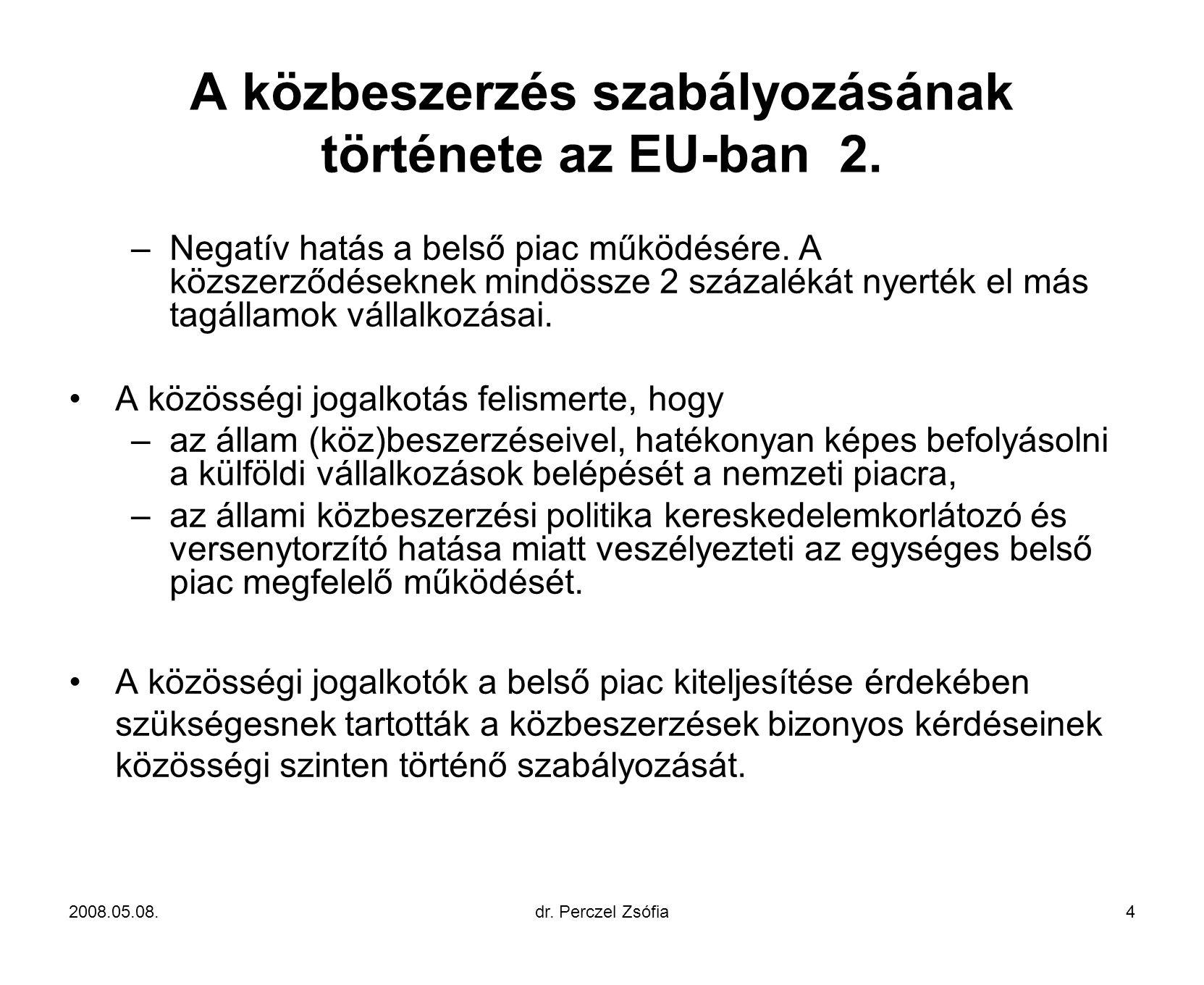 A közbeszerzés szabályozásának története az EU-ban 2.