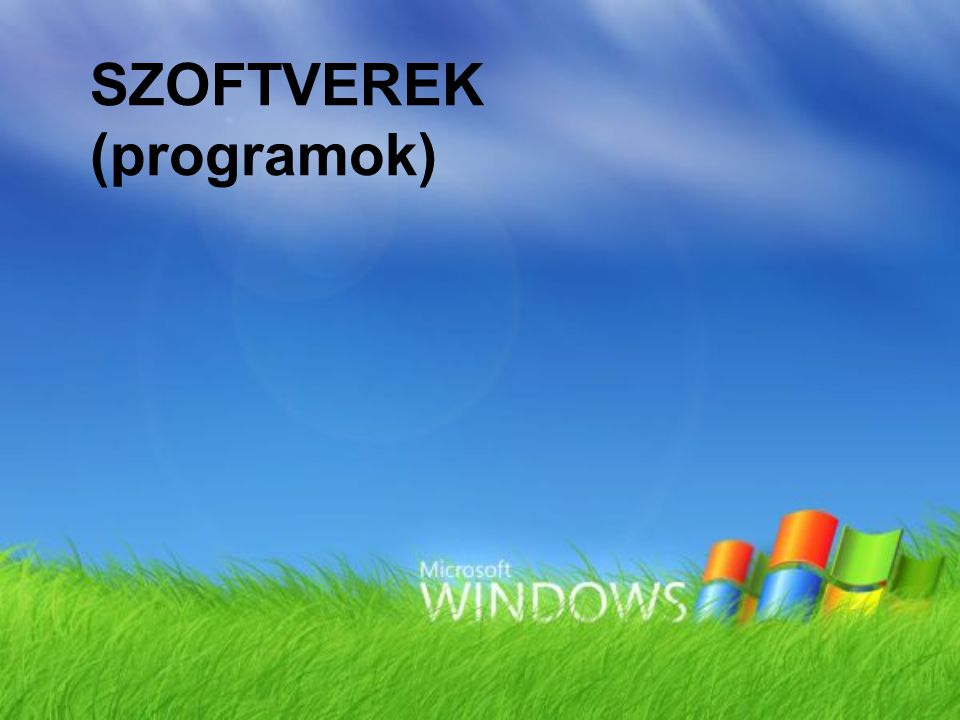 SZOFTVEREK (programok)