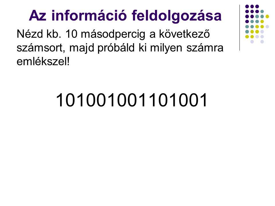 Az információ feldolgozása