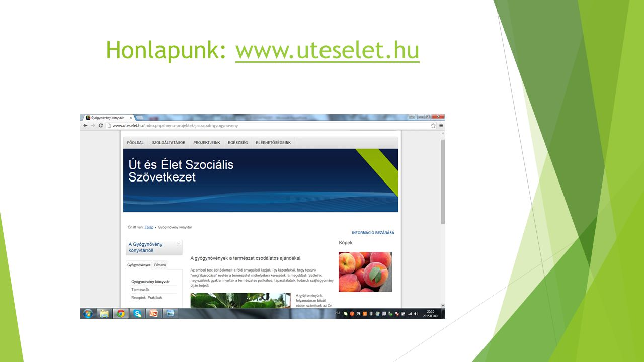 Honlapunk: www.uteselet.hu