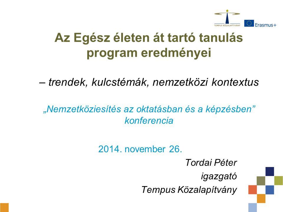 2014. november 26. Tordai Péter igazgató Tempus Közalapítvány