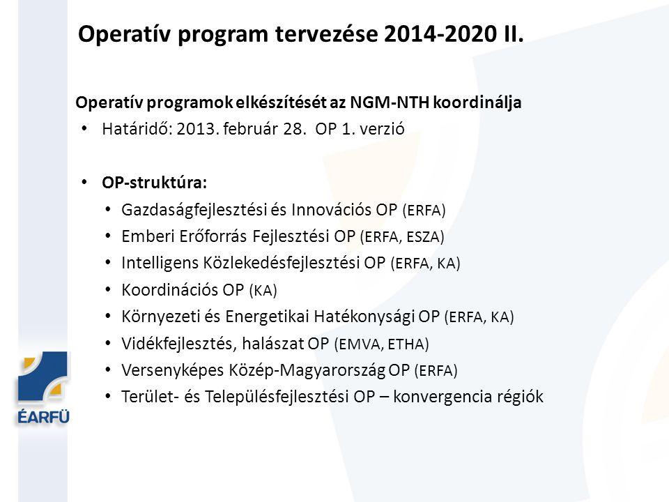 Operatív program tervezése 2014-2020 II.