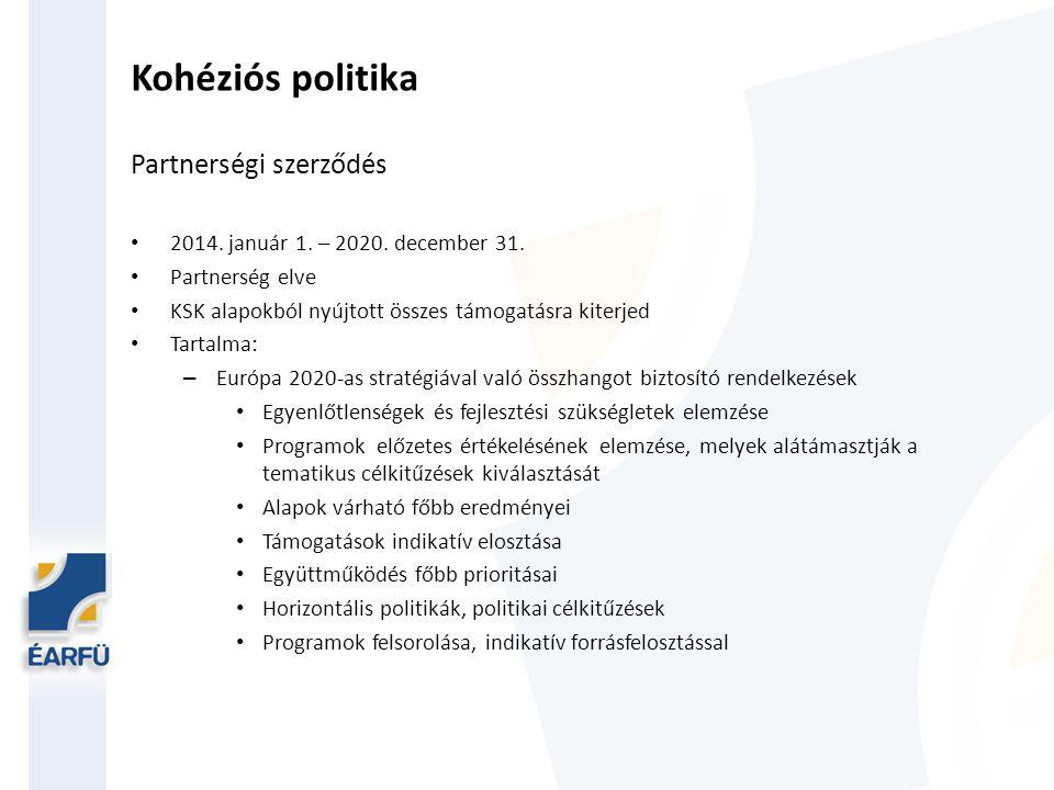 Kohéziós politika Partnerségi szerződés