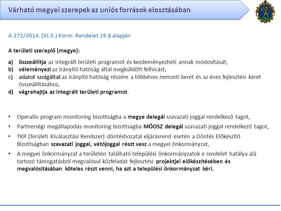 Várható megyei szerepek az uniós források elosztásában