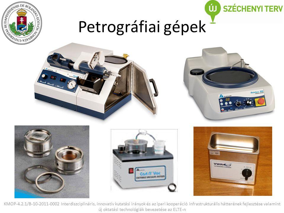 Petrográfiai gépek