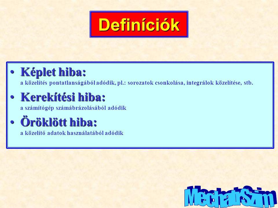 Definíciók MechatrSzim