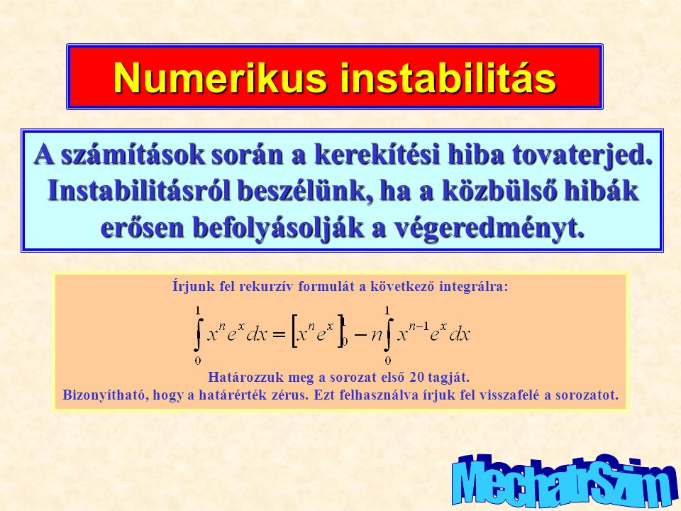 Numerikus instabilitás