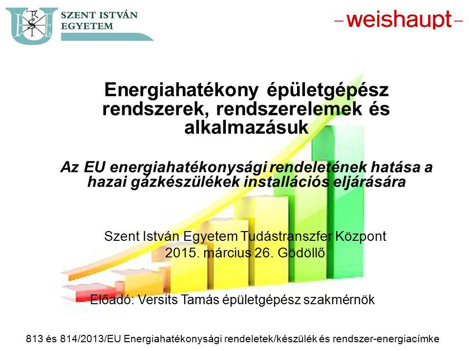 Energiahatékony épületgépész rendszerek, rendszerelemek és alkalmazásuk