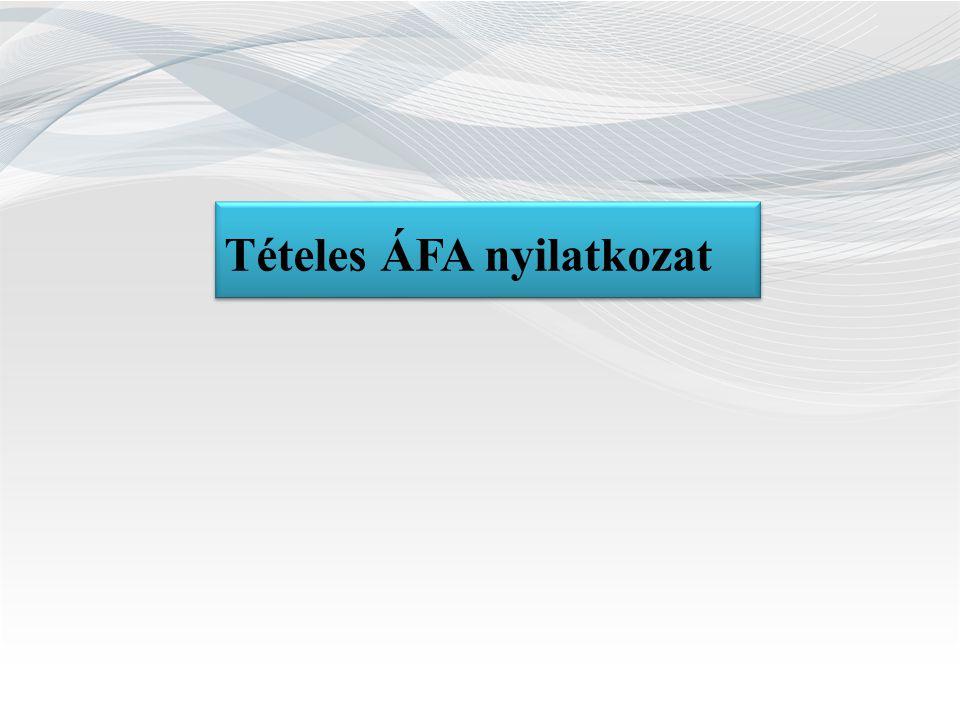 Tételes ÁFA nyilatkozat