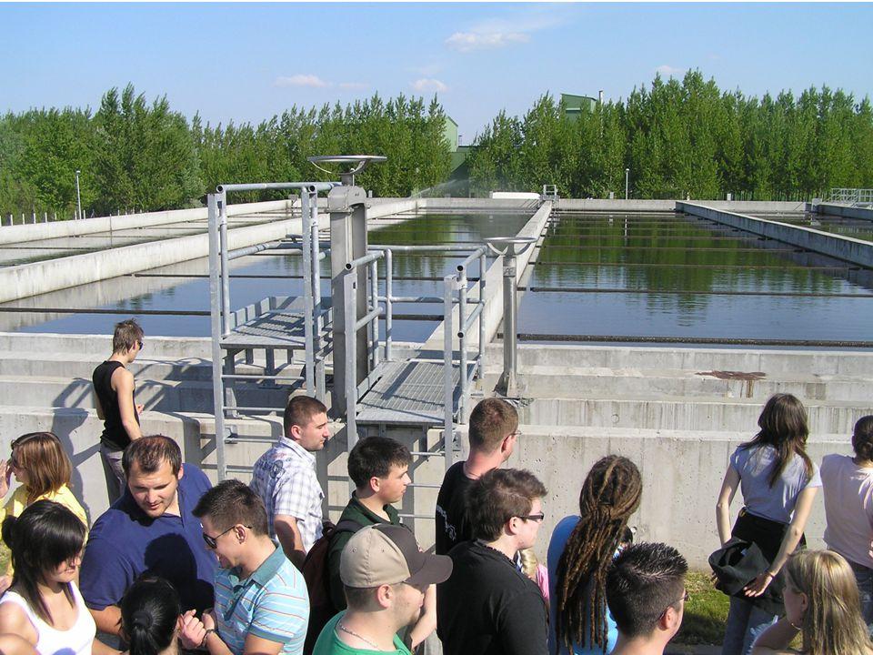 szakmai kirándulás: győri szennyvíztisztító (utóülepítő medencék)