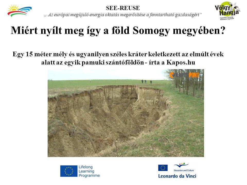 """SEE-REUSE """" Az európai megújuló energia oktatás megerősítése a fenntartható gazdaságért"""
