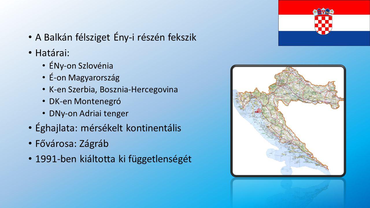A Balkán félsziget Ény-i részén fekszik Határai: