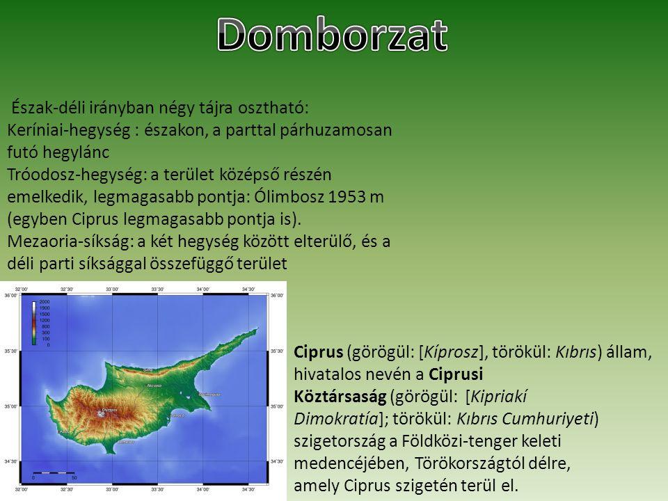 Domborzat Észak-déli irányban négy tájra osztható: