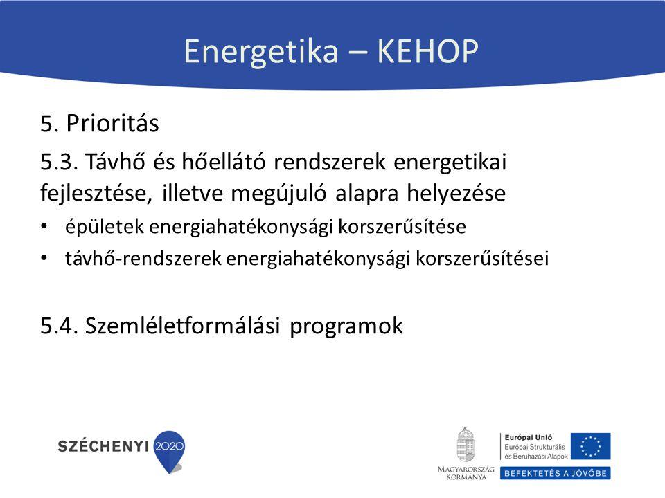 Energetika – KEHOP 5. Prioritás