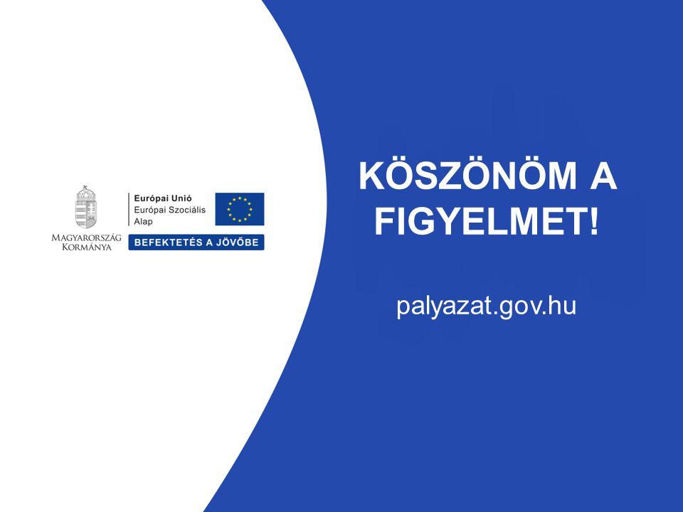 KÖSZÖNÖM A FIGYELMET! palyazat.gov.hu