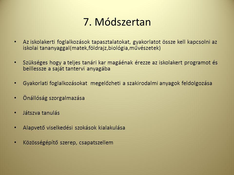 7. Módszertan