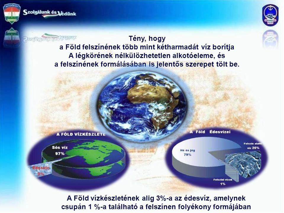 a Föld felszínének több mint kétharmadát víz borítja