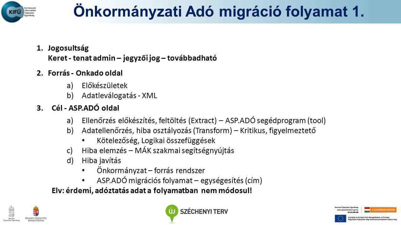 Önkormányzati Adó migráció folyamat 1.
