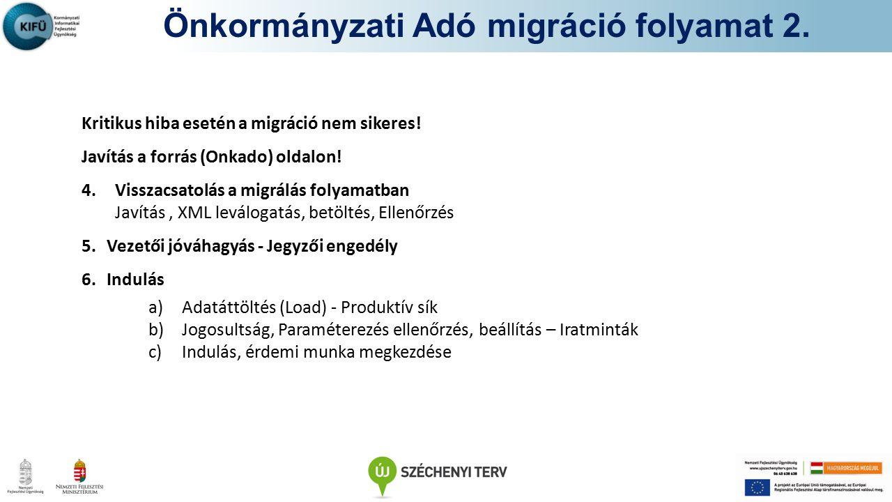 Önkormányzati Adó migráció folyamat 2.