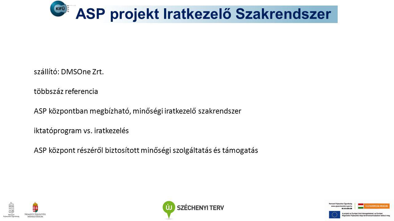 ASP projekt Iratkezelő Szakrendszer