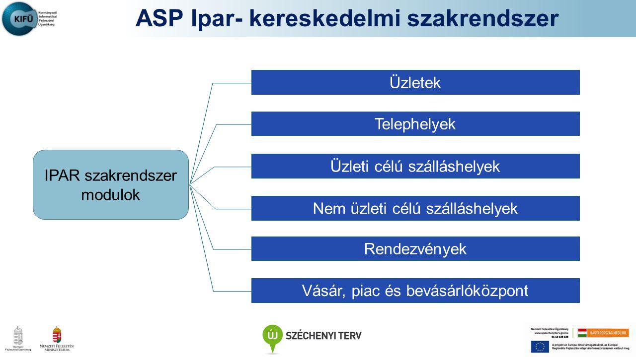 ASP Ipar- kereskedelmi szakrendszer