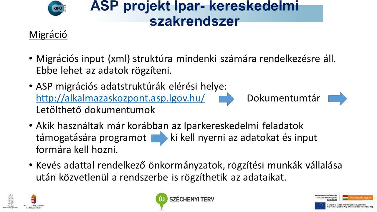 ASP projekt Ipar- kereskedelmi szakrendszer