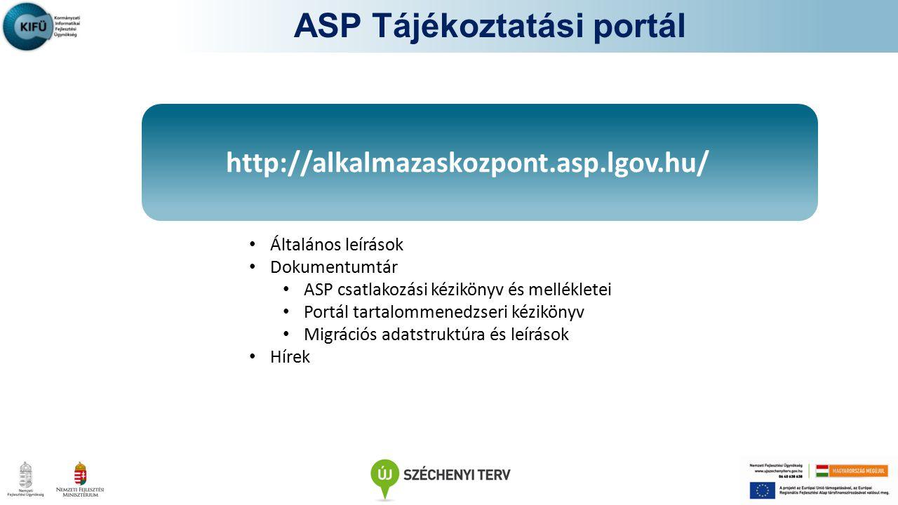 ASP Tájékoztatási portál