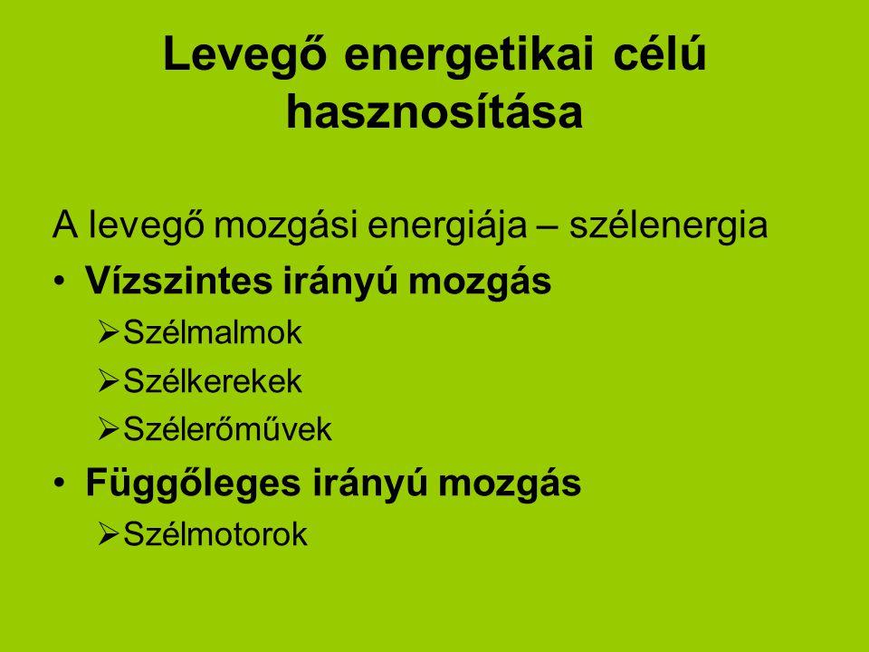Levegő energetikai célú hasznosítása