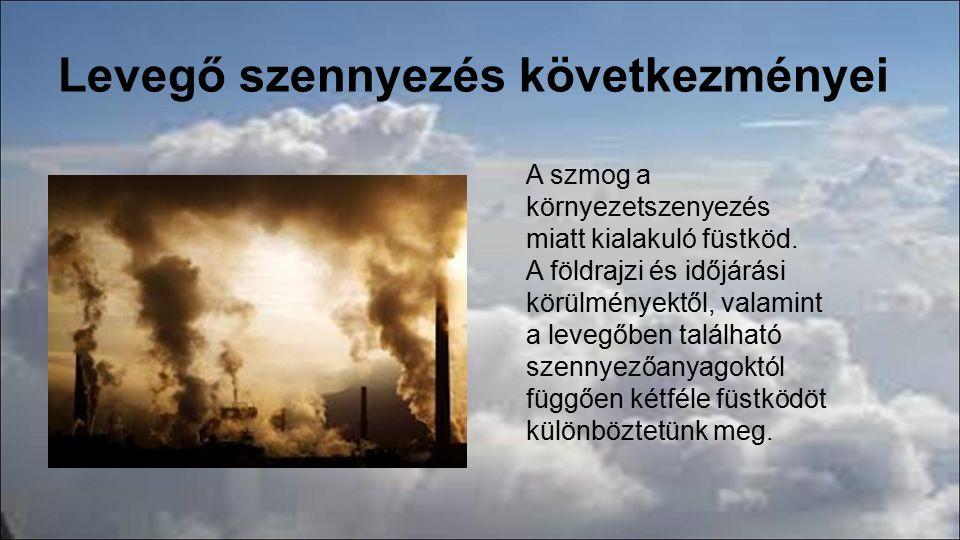 Levegő szennyezés következményei