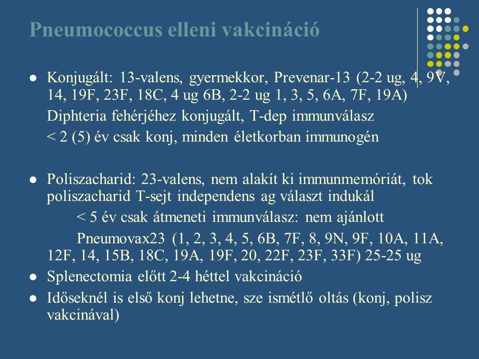 Pneumococcus elleni vakcináció
