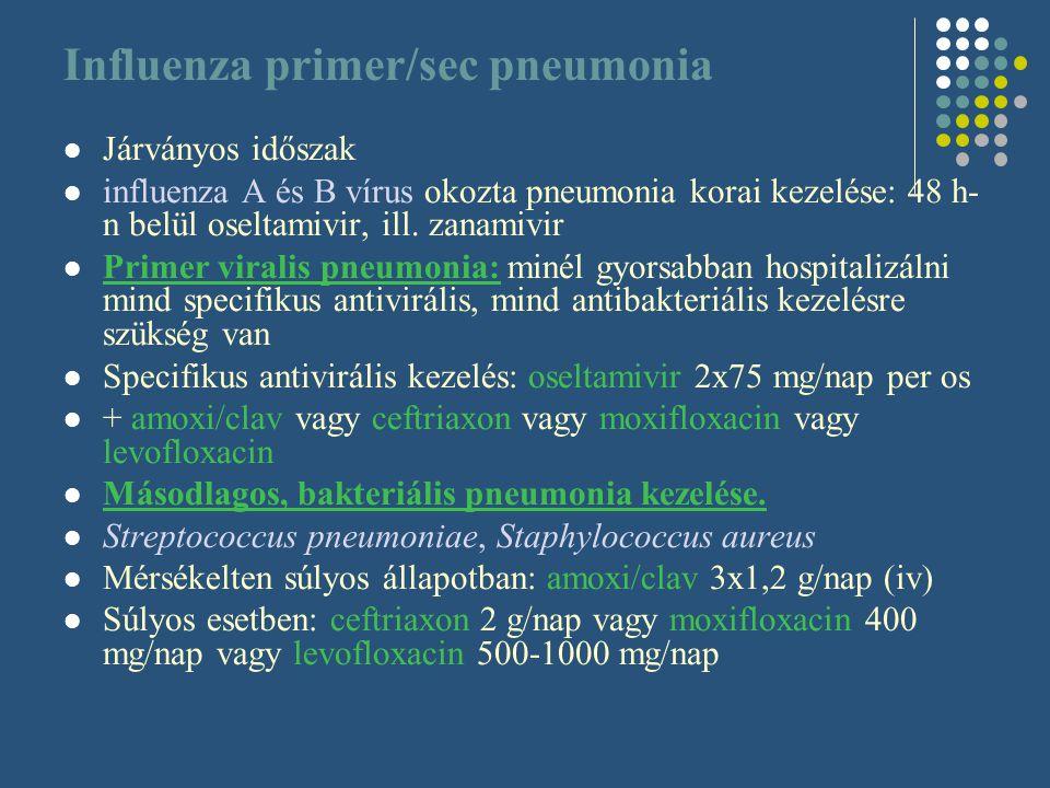 Influenza primer/sec pneumonia