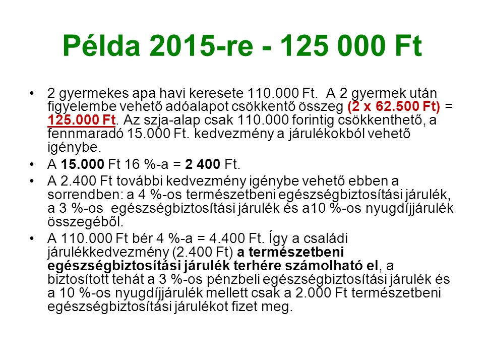 Példa 2015-re - 125 000 Ft