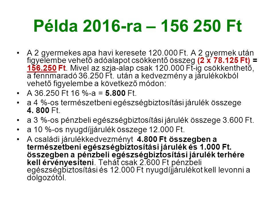 Példa 2016-ra – 156 250 Ft