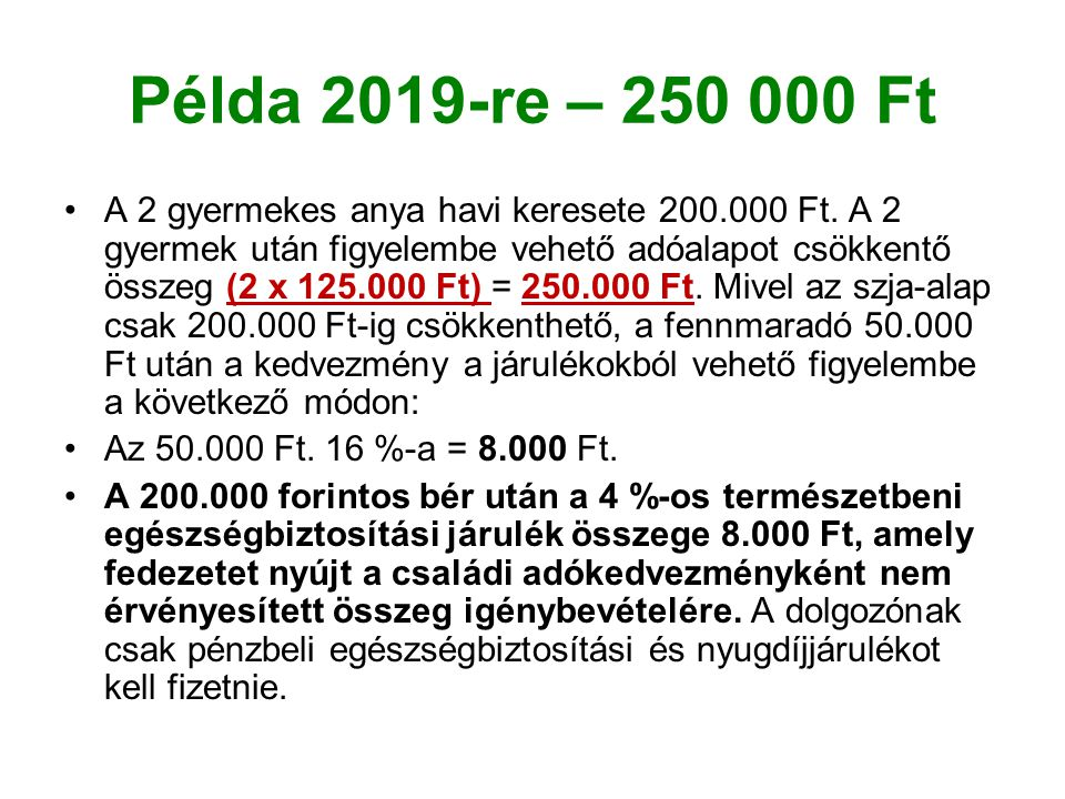 Példa 2019-re – 250 000 Ft