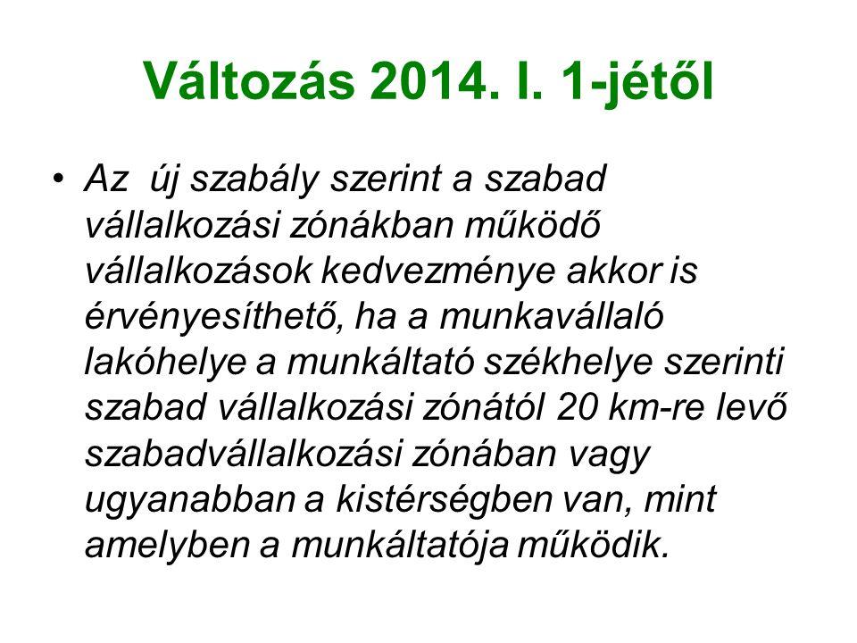 Változás 2014. I. 1-jétől
