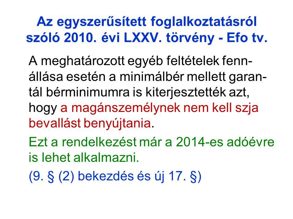 Az egyszerűsített foglalkoztatásról szóló 2010. évi LXXV