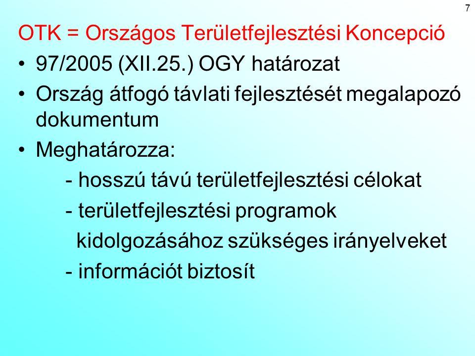 OTK = Országos Területfejlesztési Koncepció