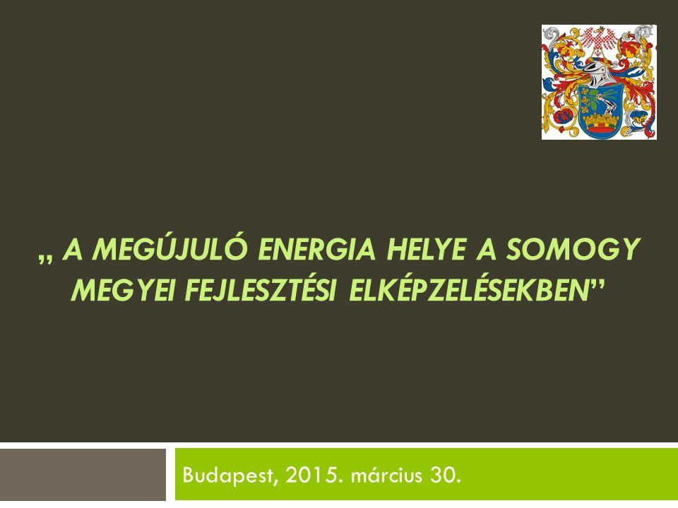 """"""" A megújuló energia helye a Somogy megyei fejlesztési elképzelésekben"""