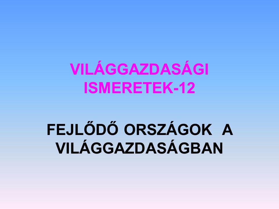 VILÁGGAZDASÁGI ISMERETEK-12