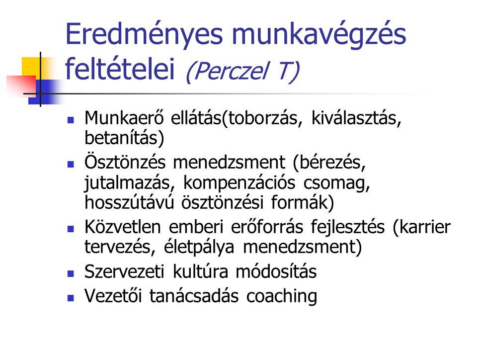 Eredményes munkavégzés feltételei (Perczel T)